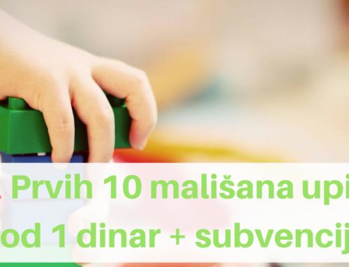 AKCIJA: Cena u narednih 6 meseci samo 1 dinar + subvencije grada